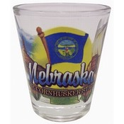 "Nebraska Shot Glass 2.25H X 2"" W Elements"