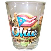 "Ohio Shot Glass 2.25H X 2"" W Elements"