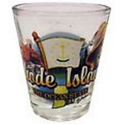 "Rhode Island Shot Glass 2.25H X 2"" W  Elements"