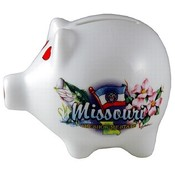 "Missouri Piggy Bank 3"" H X 4"" W Elements"
