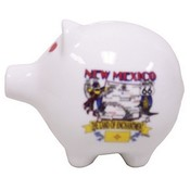 "New Mexico Piggy Bank 3"" H X 4"" W State Map"