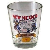 "New Mexico Shot Glass 2.25H X 2"" W State Map"
