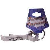 Texas Keychain Metal  Bottle Opener  Assorted  Col