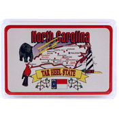 North Carolina Playing Cards State Map 24 Display