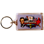 Illinois Keychain Lucite Elements