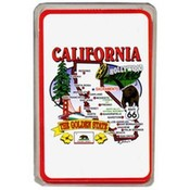 California Playing Cards- State Map