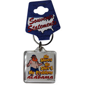 Alabama Lucite Keychain- No Shoes, No Shirt