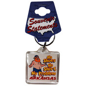 Jenkins Arkansas Lucite Keychain- No Shoes, No Shirt Wholesale Bulk