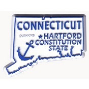 Connecticut Magnet 2D 50 State Blue