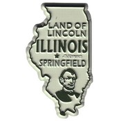 Illinois Magnet 2D 50 State Brown