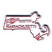 Massachusetts Magnet 2D 50 State Royal