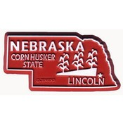 Nebraska Magnet 2D 50 State Red