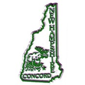 New Hampshire Magnet 2D 50 State Kelly