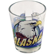 "Alaska Shot Glass 2.25H X 2"" W 3 View"
