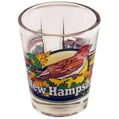 "New Hampshire Shot Glass 2.25H X 2"" W 3 View"