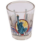 "New York Shot Glass 2.25H X 2"" W 3 View"