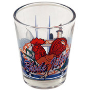 "Rhode Island Shot Glass 2.25H X 2"" W 3 View"