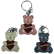 Jenkins Arkansas Metal Keychain- Glitter Bear w/Heart Wholesale Bulk