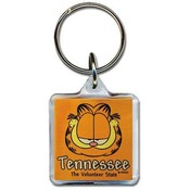 Tennessee Lucite Keychain- Garfield Head