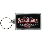 Arkansas Lucite Keychain- Rock 'n Roll
