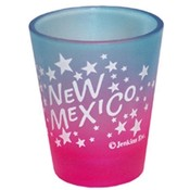 "New Mexico Shot Glass 2.25H X 2"" W Multi Clr Stars"