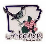 Arkansas Magnet 2D State Bird/Flower Wholesale Bulk