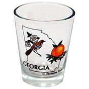 Georgia Shot Glass 2.25H X 2' W Bird/Flower Wholesale Bulk