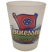 Tennessee Shotglass Frosted Map/Flag