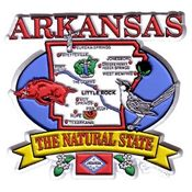 Arkansas Magnet 2D State Map Wholesale Bulk