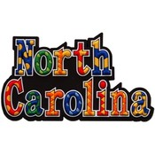 North Carolina Magnet Pvc Festive