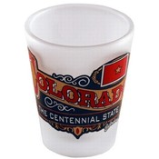 "Colorado Shot Glass 2.25H X 2"" W Frosted Banner"