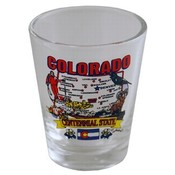 "Colorado Shot Glass 2.25H X 2"" W State Map"