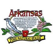 Arkansas Magnet 2D State History Wholesale Bulk