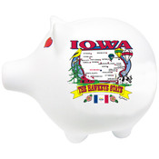 "Iowa Piggy Bank 3"" H X 4"" W State Map"