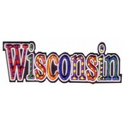 Wisconsin PVC Magnet- Festive