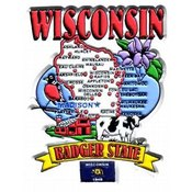 Jenkins Wisconsin 2D Magnet- State Map Wholesale Bulk