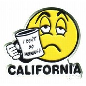 California 2D Magnet- I Don't Do Mornings