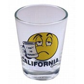 California Shotglass- I Don't Do Mornings