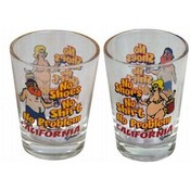 California Shotglass- No Shoes, No Shirt