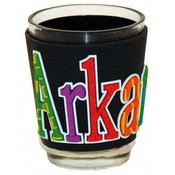 Jenkins Arkansas PVC Wrapped Shotglass- Festive Wholesale Bulk