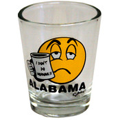 Alabama Clear Shotglass- I Don't Do Mornings