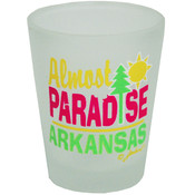 Jenkins Arkansas Frosted Shotglass- Almost Paradise Wholesale Bulk