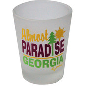 Georgia  Frosted Shotglass- Almost Paradise