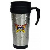 Jenkins Texas Travel Mug SS/Diamond Plate Wholesale Bulk
