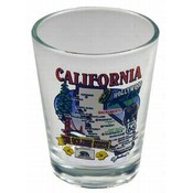 California Shotglass- State Map