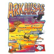 Arkansas Adlt T Road Map Ar Color Wholesale Bulk