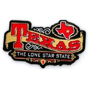 Texas Magnet 2D Banner Golden
