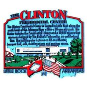 Arkansas Magnet 2D Clinton Library Wholesale Bulk