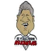 Arkansas Magnet 2D Bill Clinton Hi Yall Wholesale Bulk