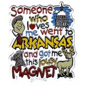Arkansas Magnet 2D Someone Who Loves Me Wholesale Bulk